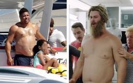 """Đi tắm biển, Ronaldo """"béo"""" thoải mái để lộ vòng bụng """"thùng nước lèo"""" không kém thần Thor"""