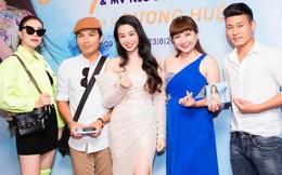Trà Ngọc Hằng mặc nổi bật đến chúc mừng đàn em ra MV