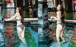Sau khi khoe vòng eo 55cm, Quỳnh Nga tiếp tục đăng ảnh bikini nóng bỏng