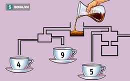 Câu đố cân não: Tách cà phê nào sẽ đầy đầu tiên?