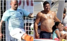 """Ro """"béo"""" đã có đối thủ: Wesley Sneijder lộ """"bụng bia"""" khó tin chỉ sau 2 tuần giải nghệ"""