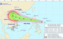 Tin bão mới nhất: Áp thấp nhiệt đới mạnh thành bão Podul giật cấp 10