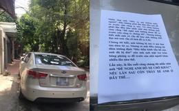 """Đậu ô tô trước cửa công ty lạ, tài xế """"tái mặt"""" vì tờ giấy thông báo dán trên xe"""