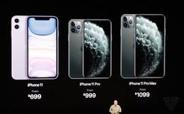 Apple ra mắt 3 điện thoại mới: iPhone 11, 11 Pro và 11 Pro Max; giá từ 699 USD