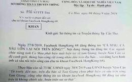 Cà Mau đề nghị xử lý trang Facebook tung tin cá sấu nổi trên sông