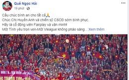 Tuyển thủ quốc gia Việt Nam cầu chúc cho fan nữ bị thương vì pháo sáng