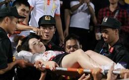 Tình trạng sức khoẻ của nữ cổ động viên trúng pháo sáng tại sân Hàng Đẫy