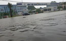 600 cán bộ quân đội và dân quân khắc phục ngập lụt ở Thái Nguyên