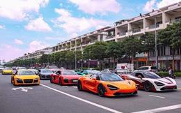 """Dân mạng """"hoảng hồn"""" với loạt siêu xe ở đâu xuất hiện ngập phố Sài Gòn, đến phải thốt lên: """"Quận 2 mà ngỡ Dubai bà con ơi''"""
