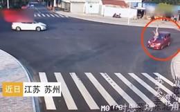 Đang định qua đường thì thấy người bị xe đâm, hành động của chú chó thông minh khiến ai cũng kinh ngạc