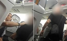 Người đàn ông dọa cắt cổ tiếp viên trên máy bay trong lúc tức giận