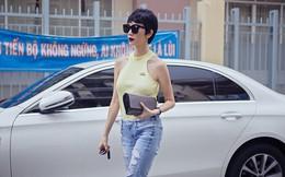 Xuân Lan tự lái xế hộp 2,5 tỷ đến cổ vũ Quang Hà tập hát