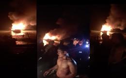 Tàu cá nổ như bom khiến 2 người chết, 1 người mất tích, 5 người bị thương