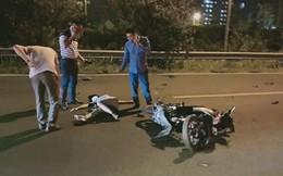 Clip: Phi xe ngược chiều trên đại lộ Thăng Long, người phụ nữ gặp tai nạn kinh hoàng