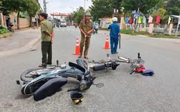 Qua đường không quan sát trên đường đi học sau kỳ nghỉ lễ, nam sinh bị xe máy tông nguy kịch