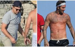 Ngoại hình trái ngược của Leonardo DiCaprio và David Beckham ở tuổi U50
