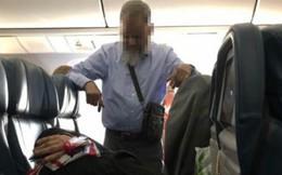 Người đàn ông đứng suốt 6 tiếng canh vợ ngủ trên máy bay gây xôn xao cư dân mạng
