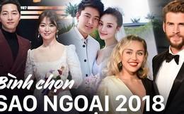"""Bình chọn showbiz ngoại 2018: Ai đăng quang """"Hoa hậu thị phi"""", ai là ngôi sao đáng thương và đáng GATO nhất năm qua?"""