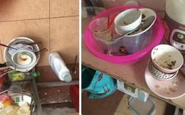 Choáng váng với ảnh hậu trường 'hang ổ' của gái xinh: Sàn nhà ngập rác, bát ăn mấy ngày chất đống không rửa