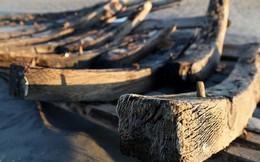 """""""Tàu ma"""" thế kỷ XIX bất ngờ lộ diện trên bờ biển"""