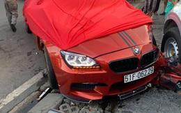 Ô tô BMW gây tai nạn liên hoàn trên đường phố Sài Gòn, những người trên xe rời khỏi hiện trường