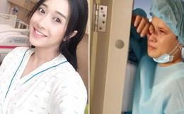 Em gái Nhã Phương sinh con trai đầu lòng sau 6 tháng kết hôn, chồng cô nàng khóc như đứa trẻ vì xúc động