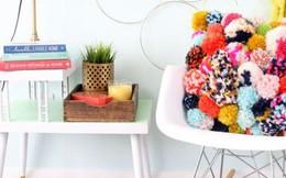 Ý tưởng giúp mọi không gian sống đều bừng sáng vui tươi để đón Tết cổ truyền với pom pom vô cùng dễ thương