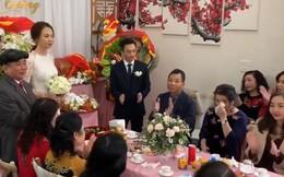 """Cận cảnh hình ảnh """"người đàn bà thép"""" Như Loan - mẹ ruột Cường Đô La khóc trong lễ hỏi cưới Đàm Thu Trang"""