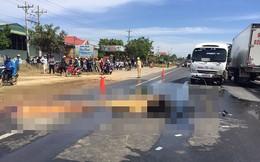 Sau cú tông vào ô tô, xe máy bốc cháy làm 2 người tử vong