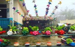 Độc đáo khu vườn đồ chơi tái chế dành cho trẻ vùng cao