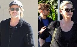 Lần đầu xuất hiện sau tin đồn hẹn hò, Brad Pitt và Charlize Theron phản ứng thế nào trước paparazzi?