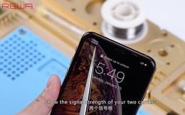 Kỹ thuật viên Trung Quốc độ thành công iPhone XS Max 1 SIM vật lý thành 2 SIM vật lý, nhưng xem xong có lẽ chẳng ai muốn làm theo