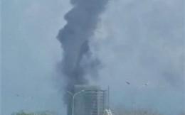 Cháy tòa nhà DITP Trung Nam tại Đà Nẵng, cột khói nghi ngút bốc cao hàng chục mét