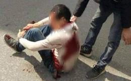 Nam thanh niên bị 2 đối tượng rượt đuổi, chém trọng thương trên phố