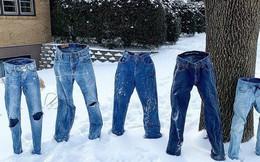 """Lạc quan như người Mỹ: Thi nhau đông cứng quần jeans, nấu """"mì bay"""" trong đợt giá rét kỷ lục"""