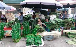 Chợ lá dong lâu đời nhất Thủ đô đìu hiu ngày cận Tết