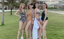 Bốn chị em nhà Thiều Bảo Trang lại gây chú ý với màn đọ dáng chuẩn eo thon