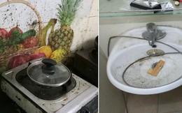 Đến thắp hương cuối năm, chủ nhà trọ sốc tận óc khi chứng kiến nhà vệ sinh ố vàng, tường bếp mốc xanh do người thuê vô ý thức