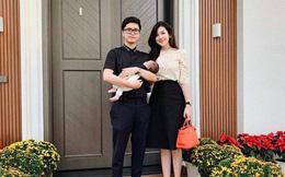 Á hậu Tú Anh khoe 'quý tử' 2 tháng tuổi vào mùng 1 Tết
