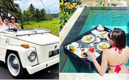 Mọi người vẫn còn hăng say ăn Tết, MC xinh đẹp Mai Ngọc đã cùng ông xã 'trốn' sang Bali nghỉ dưỡng sang chảnh