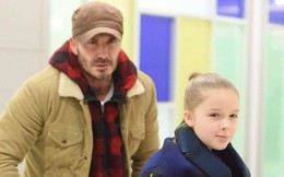 David Beckham không vui vì Harper mới 7 tuổi mà đã nhận được thứ này vào dịp Valentine