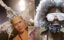 Cuộc thi tóc đóng băng quái dị tiếp tục khuấy đảo suối nước nóng Canada năm nay