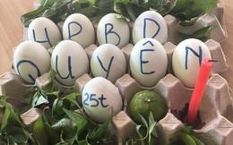 """Sinh nhật chị họ, cô bạn """"chơi lớn"""" tặng """"bánh kem"""" làm từ... 10 quả trứng vịt lộn"""