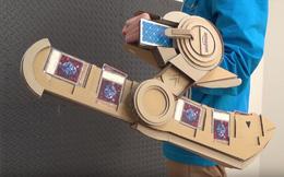 Mơ được làm thần bài, một bài thủ đã chế ra bàn đánh bài Yu-Gi-Oh ngoài đời thực