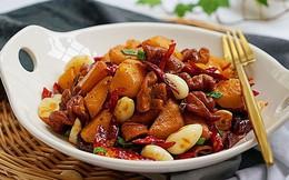 Ăn cơm cũng ngon mà lai rai cũng tuyệt với món lòng heo xào cay