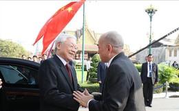 Điện cảm ơn của Tổng Bí thư, Chủ tịch nước gửi Quốc vương Campuchia