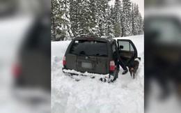 Thanh niên Mỹ mắc kẹt trong xe tuyết phủ 5 ngày liên tiếp, sinh tồn chỉ với chú chó cưng và mấy gói sốt cà chua