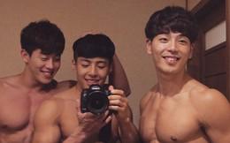 Bộ ba hot boy Hàn khiến hội con gái trầm trồ: Chơi thân là cũng lây được đẹp trai với body 6 múi thế này ư?