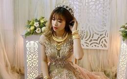 Lại thêm 1 cô dâu nữa khiến dân mạng ghen tị: Vàng đeo trĩu người còn chồng thì đẹp trai chẳng kém gì soái ca