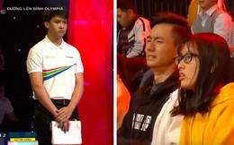 Chủ quan tại phần thi Về đích, hot boy Nghệ An khiến khán giả bật khóc nức nở vì tuột mất cơ hội vào Chung kết năm Olympia 2019